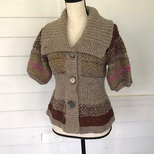 Free people cardigan sweater boho size small wool